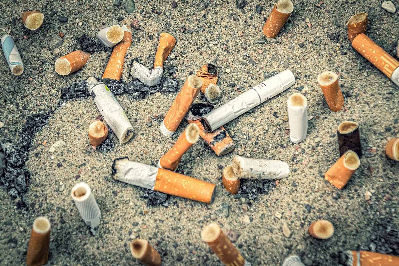 Can cigarette butts on the beach influence the local environment?